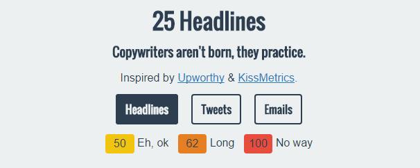 25 headlines herramientas para escribir titulares